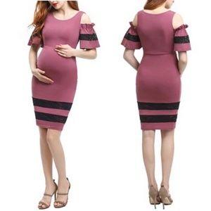 Kimi + Kai Marissa Maternity Cold Shoulder Dress